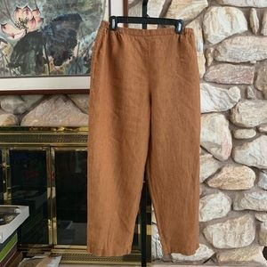 Eileen Fisher linen pants Large